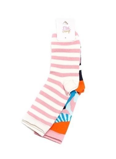Pink&Orange Çorap Pembe